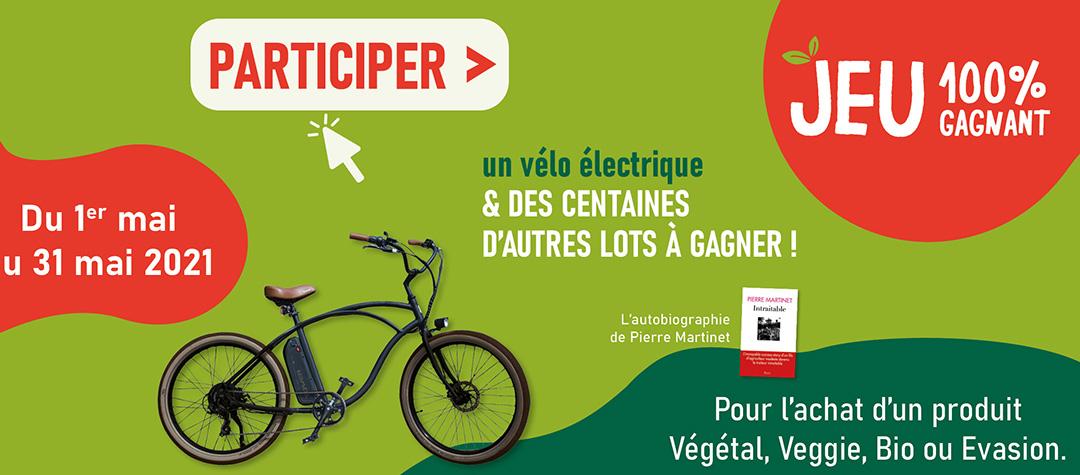 Un vélo électrique et des centaines d'autres lots à gagner