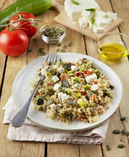 Salade de boulghour  & légumes fromage de brebis