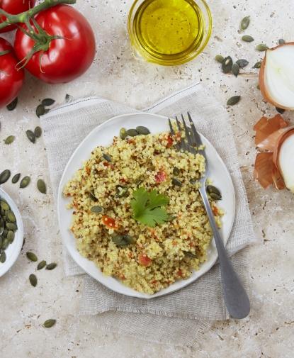 Salade de Quinoa aux Tomates et Graines de Courge BIO