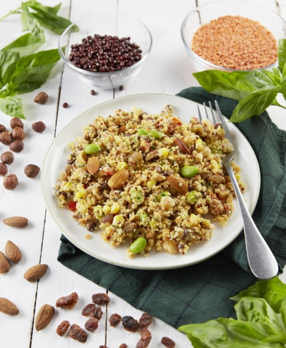 Salade de Quinoa croquant amandes & noisettes