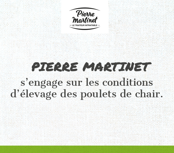 Pierre Martinet s'engage pour les conditions d'élevage des poulets de chair